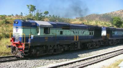 stock-footage-makalidurga-karnataka-india-jan-a-freight-goods-train-starts-at-makalidurga-station